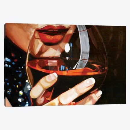 Wine Lips Canvas Print #JBZ15} by JAC Bezer Canvas Art Print