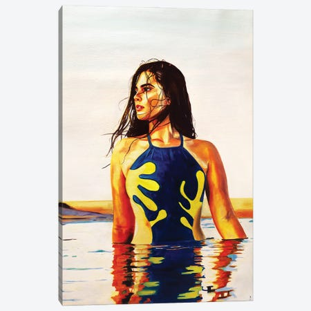 The Swimsuit Canvas Print #JBZ4} by JAC Bezer Canvas Art Print