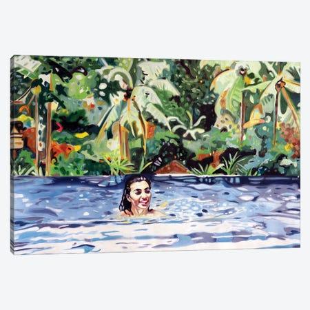 Jungle Swimming Canvas Print #JBZ8} by JAC Bezer Canvas Art