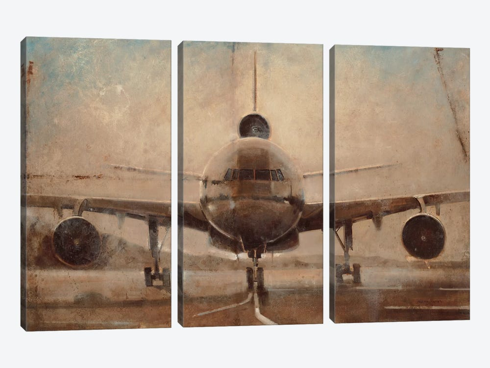 Tonal Plane by Joseph Cates 3-piece Art Print