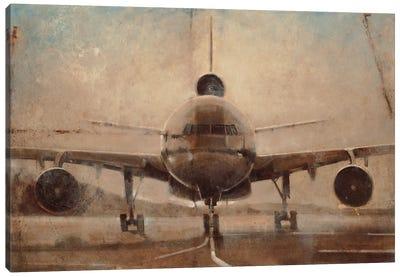 Tonal Plane Canvas Art Print