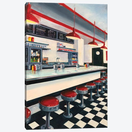 Diner 3-Piece Canvas #JCA18} by Joseph Cates Canvas Artwork