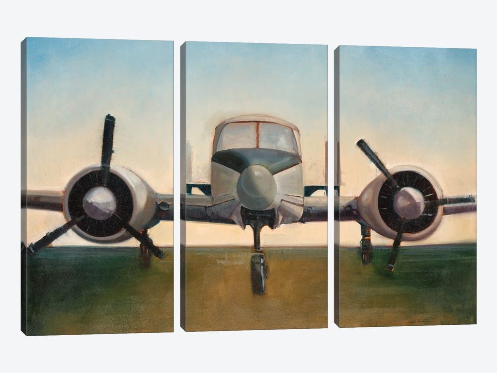 Airplane by Joseph Cates 3-piece Canvas Art