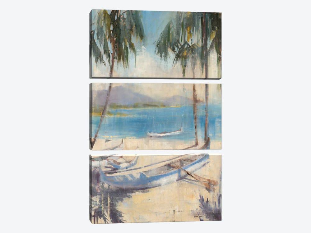 Ocean Palms II by Joseph Cates 3-piece Art Print