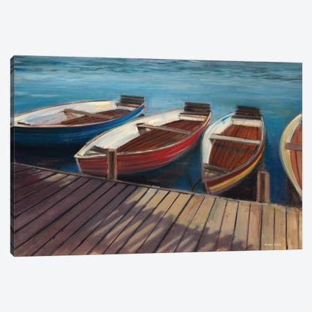 Row Boats Canvas Print #JCA26} by Joseph Cates Canvas Wall Art