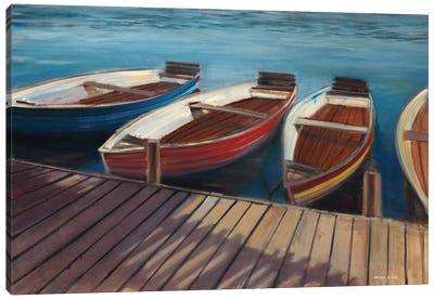Row Boats Canvas Art Print