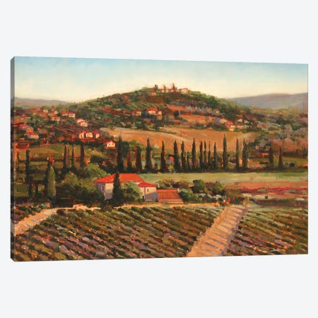 Tuscan Villa Canvas Print #JCA30} by Joseph Cates Canvas Wall Art