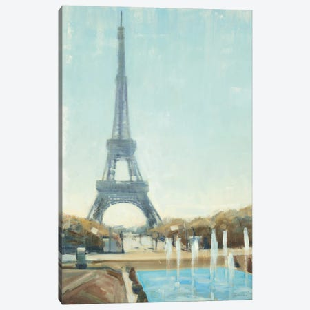 Eiffel Tower Canvas Print #JCA3} by Joseph Cates Art Print