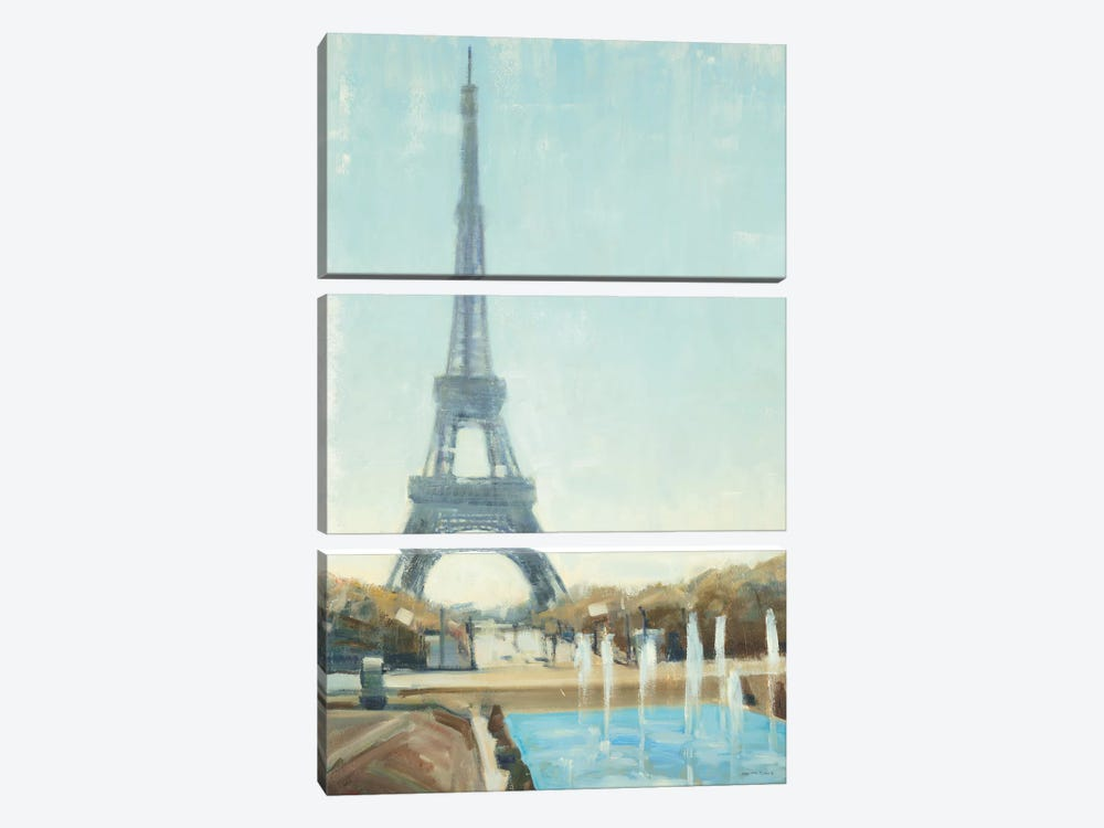 Eiffel Tower by Joseph Cates 3-piece Canvas Art
