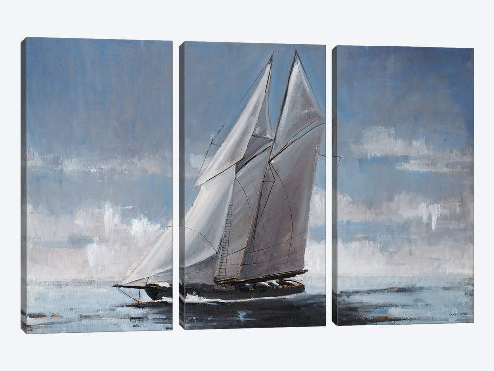 Full Sail by Joseph Cates 3-piece Canvas Art Print