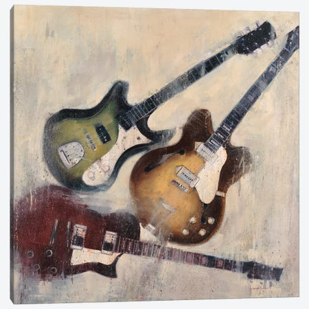 Guitars I Canvas Print #JCA5} by Joseph Cates Canvas Artwork