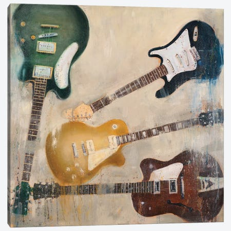 Guitars II Canvas Print #JCA6} by Joseph Cates Canvas Art