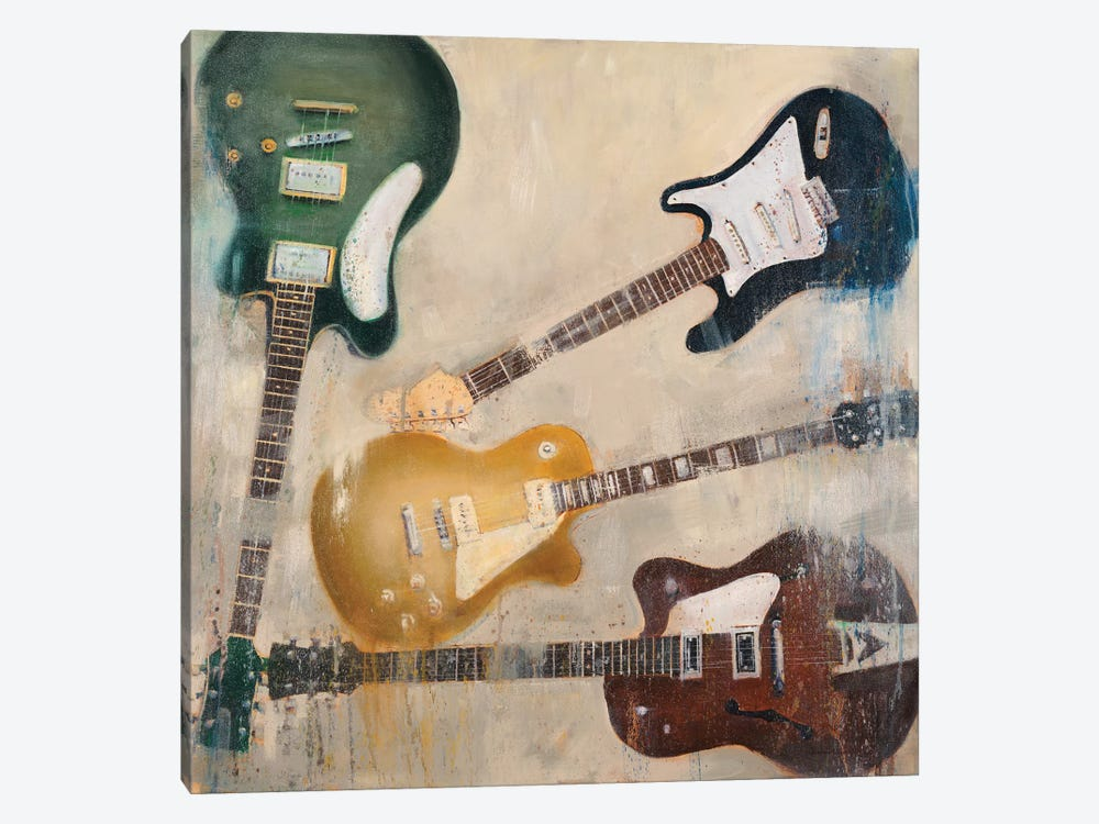 Guitars II 1-piece Canvas Print