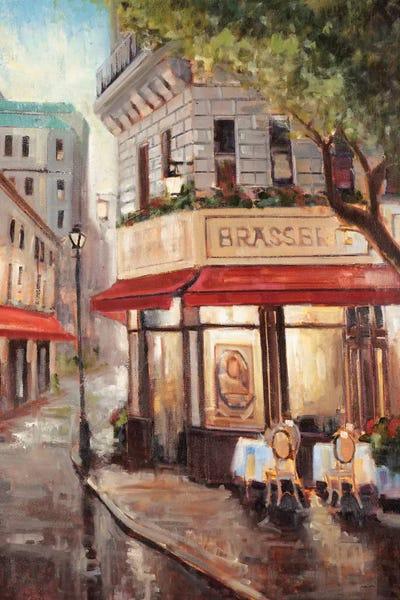 Parisian Stroll Canvas Print by Joseph Cates
