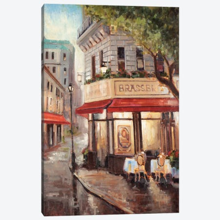 Parisian Stroll Canvas Print #JCA7} by Joseph Cates Canvas Artwork