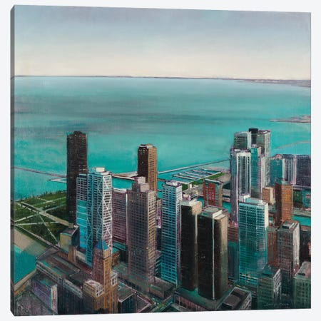 Skyline II 3-Piece Canvas #JCA9} by Joseph Cates Art Print