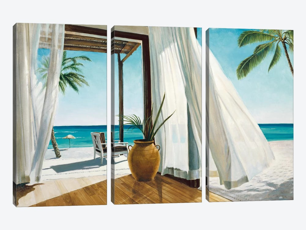 Sea Breeze I 3-piece Canvas Art Print