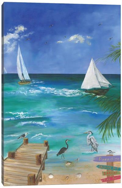 Fun Filled Beach I Canvas Art Print