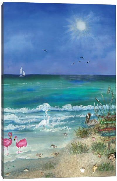 Fun Filled Beach II Canvas Art Print