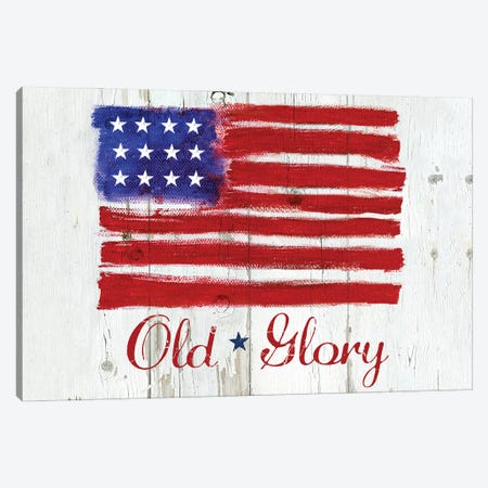 Old Glory Canvas Print #JCE4} by Jan Cole Canvas Art
