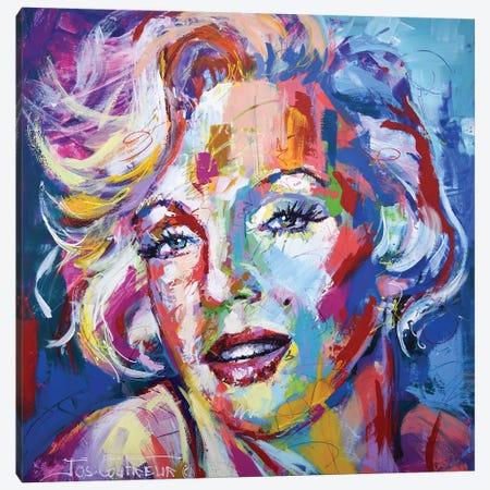 Marilyn Canvas Print #JCF107} by Jos Coufreur Art Print