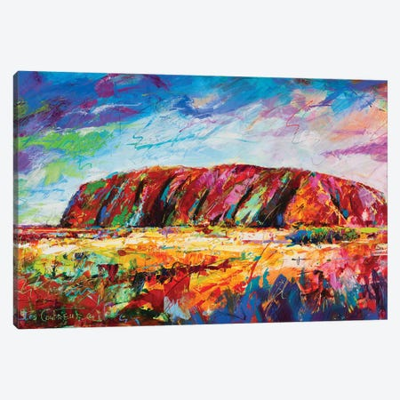 Uluru Canvas Print #JCF111} by Jos Coufreur Art Print