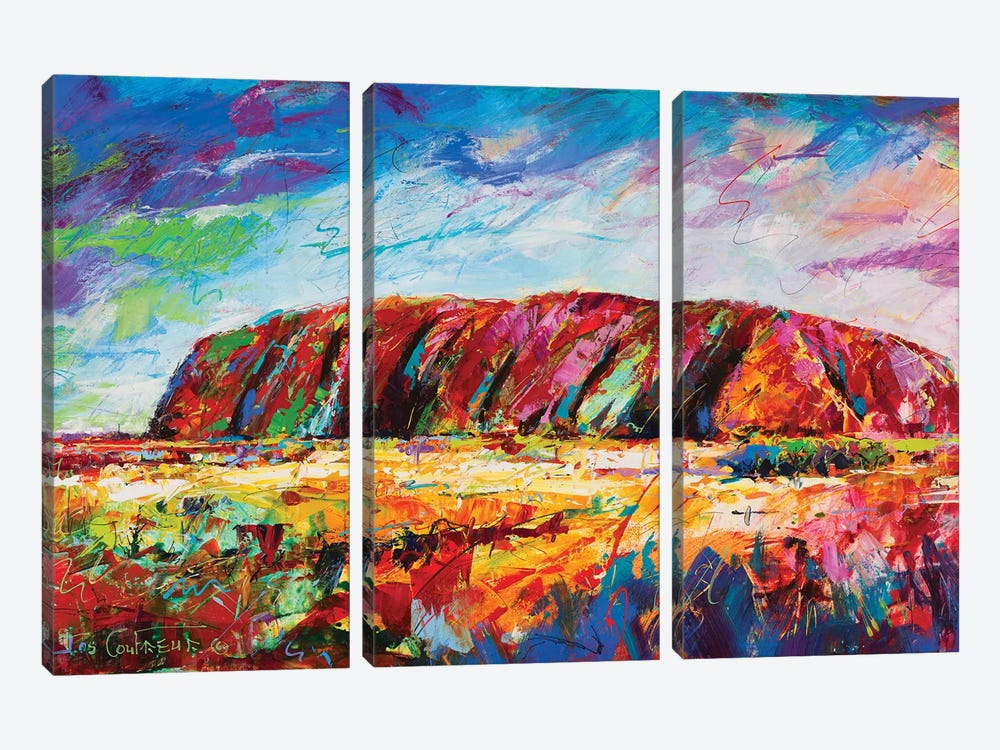 Uluru by Jos Coufreur 3-piece Canvas Wall Art