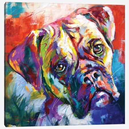 Boxer Canvas Print #JCF115} by Jos Coufreur Canvas Wall Art