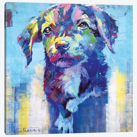 Cute Dog Canvas Print #JCF118} by Jos Coufreur Art Print