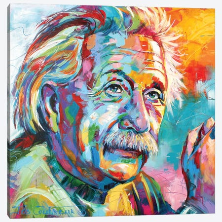 Einstein Canvas Print #JCF119} by Jos Coufreur Canvas Art Print