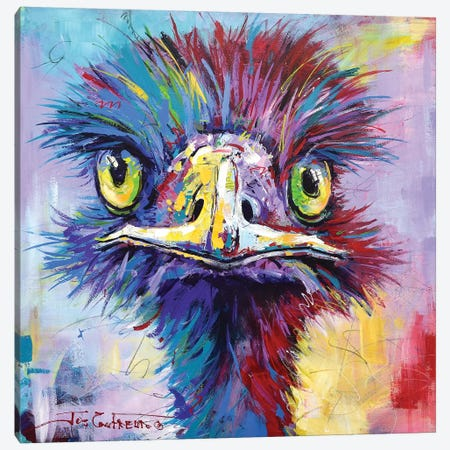 Emu II Canvas Print #JCF120} by Jos Coufreur Canvas Wall Art