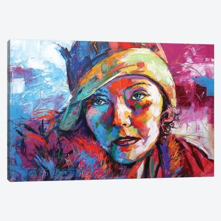 Greta Garbo Canvas Print #JCF121} by Jos Coufreur Canvas Art