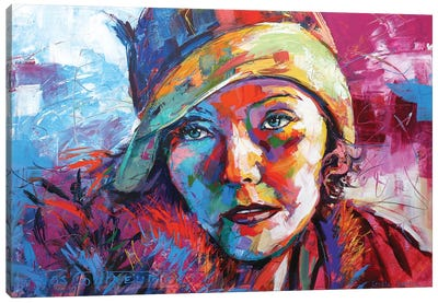 Greta Garbo Canvas Art Print