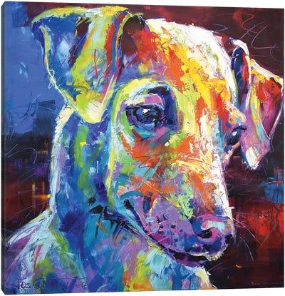 Greyhound Puppy Canvas Art Print