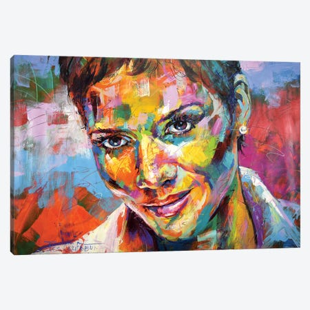 Halle Berry Canvas Print #JCF123} by Jos Coufreur Canvas Artwork