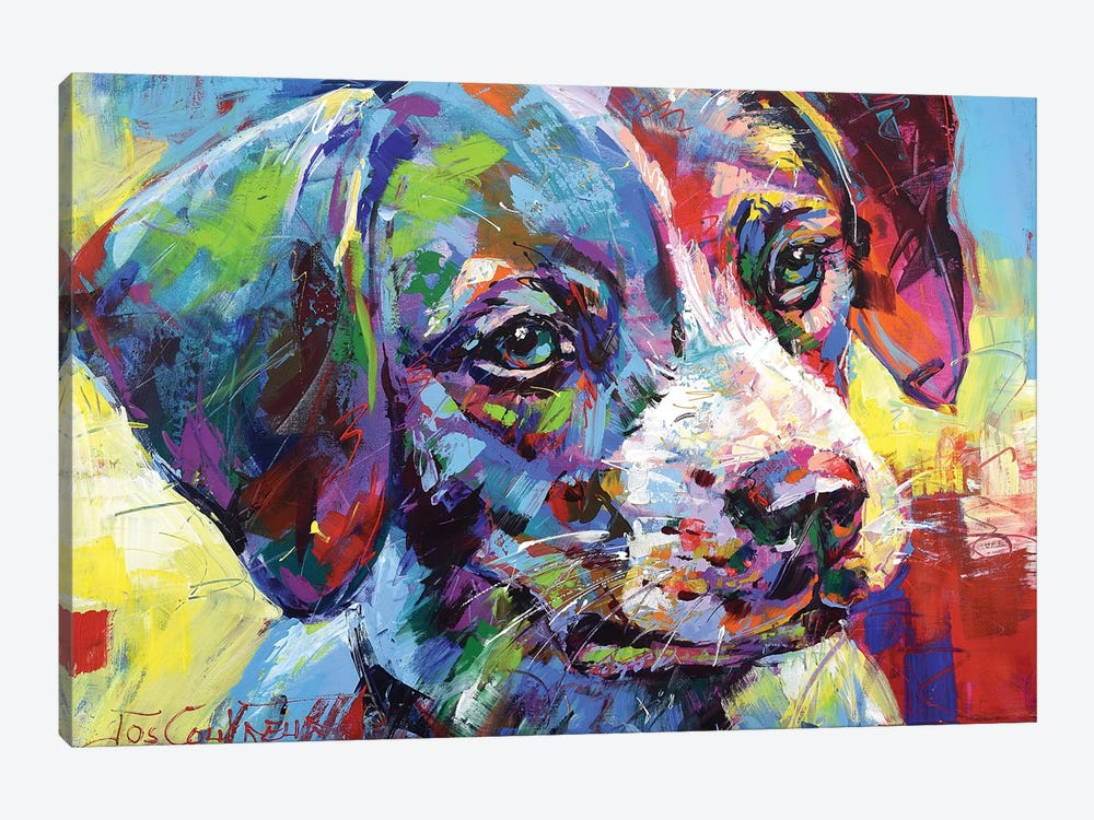 Jack Russell Puppy by Jos Coufreur 1-piece Canvas Art Print