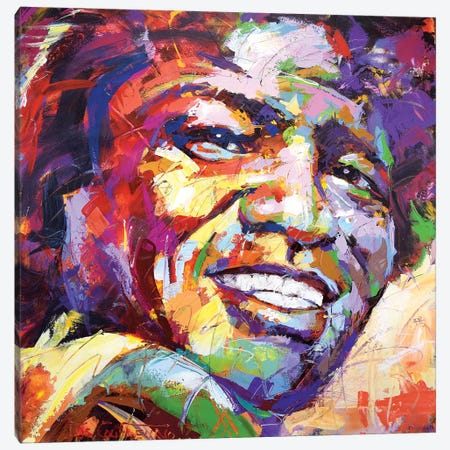 James Brown Canvas Print #JCF126} by Jos Coufreur Canvas Print