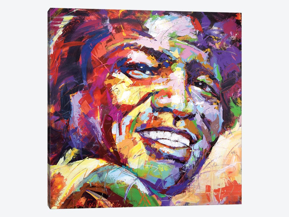 James Brown by Jos Coufreur 1-piece Canvas Artwork