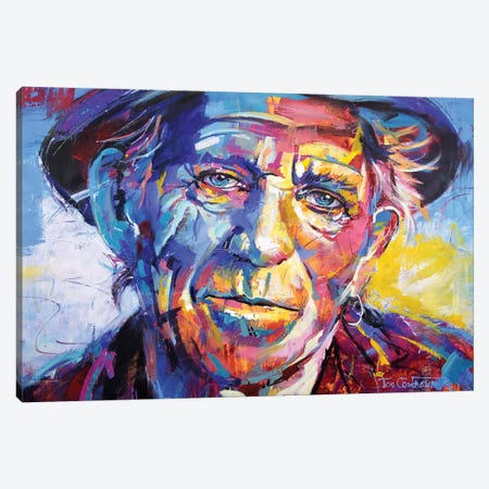 Keith Richards Canvas Print #JCF127} by Jos Coufreur Canvas Print