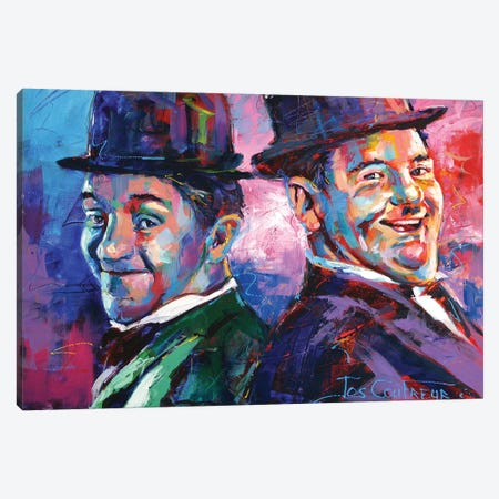 Laurel and Hardy Canvas Print #JCF130} by Jos Coufreur Canvas Print