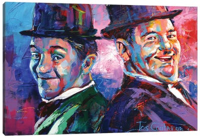 Laurel and Hardy Canvas Art Print