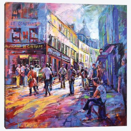 Montmartre Canvas Print #JCF131} by Jos Coufreur Canvas Print