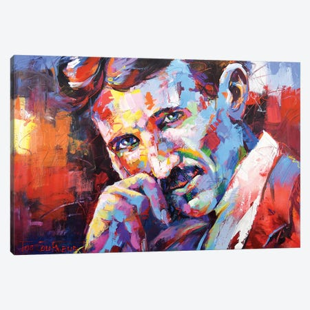 Nikola Tesla Canvas Print #JCF133} by Jos Coufreur Canvas Art Print