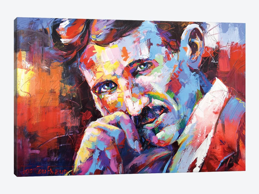 Nikola Tesla by Jos Coufreur 1-piece Canvas Artwork
