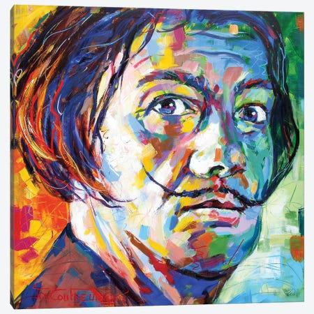 Salvador Dali II Canvas Print #JCF135} by Jos Coufreur Canvas Wall Art
