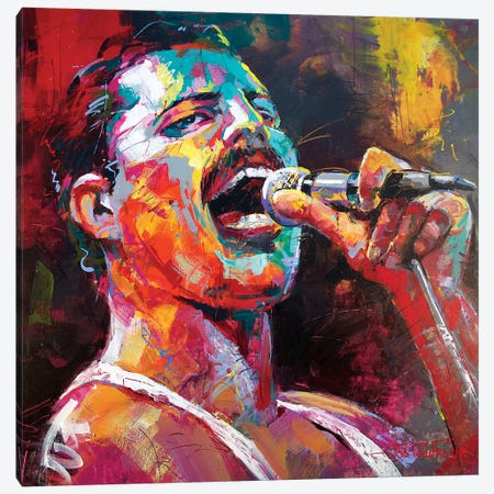 Freddy Mercury Canvas Print #JCF140} by Jos Coufreur Canvas Art