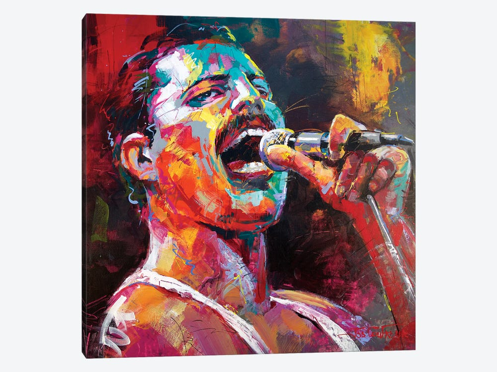 Freddy Mercury by Jos Coufreur 1-piece Canvas Art