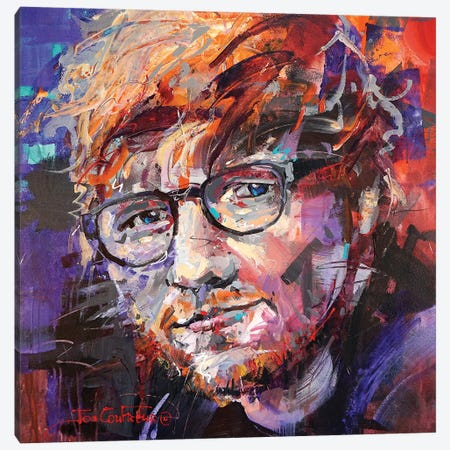 Ed Sheeran Canvas Print #JCF141} by Jos Coufreur Canvas Wall Art