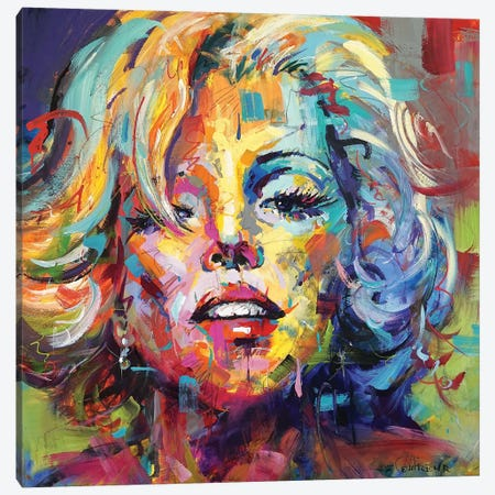 Marilyn Canvas Print #JCF143} by Jos Coufreur Canvas Wall Art