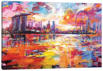 Singapore Skyline Canvas Art Print